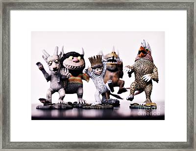 Where The Wild Things Are Framed Print by HD Connelly