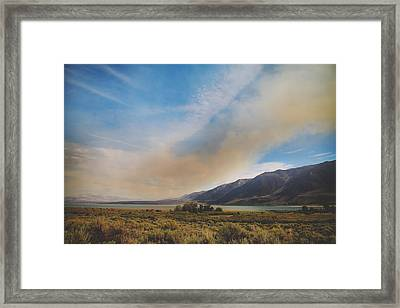 Where There's Smoke Framed Print by Laurie Search