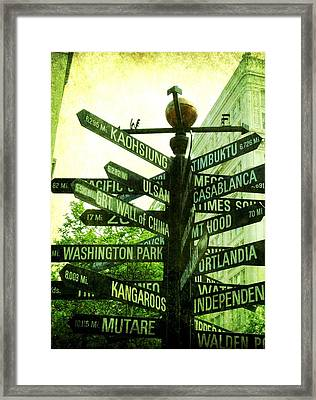 Where To Go Framed Print by Cathie Tyler