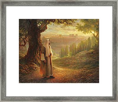 Wherever He Leads Me Framed Print by Greg Olsen