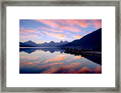 While The Tourists Are Sleeping Framed Print by Renee Sullivan