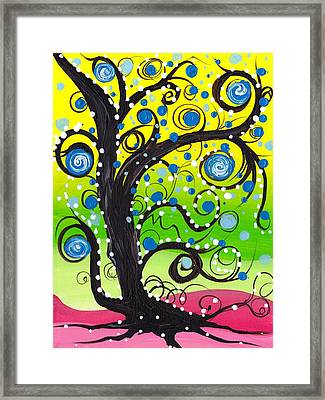 Whims Tree Framed Print by  Abril Andrade Griffith