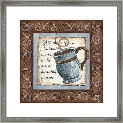 Whimsical Coffee 1 Framed Print by Debbie DeWitt