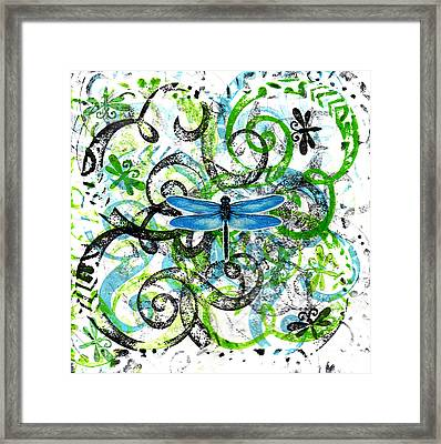 Whimsical Dragonflies Framed Print by Genevieve Esson