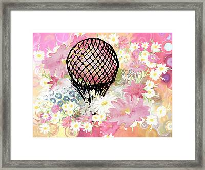 Whimsical Musing High In The Air Pink Framed Print by Georgiana Romanovna