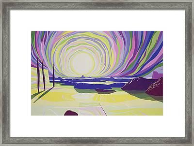 Whirling Sunrise - La Rocque Framed Print by Derek Crow