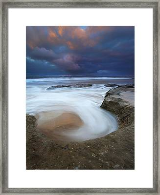 Whirlpool Dawn Framed Print by Mike  Dawson
