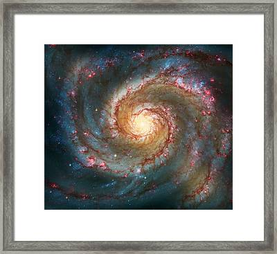 Whirlpool Galaxy  Framed Print by The  Vault - Jennifer Rondinelli Reilly
