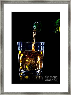 Whiskey Being Poured Framed Print by Richard Thomas