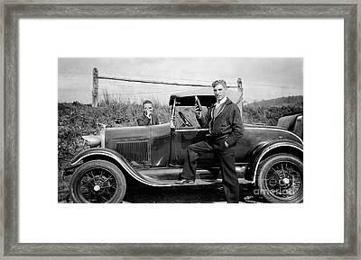 Whiskey Car Framed Print by Jon Neidert