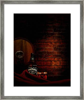 Whiskey Fancy Framed Print by Lourry Legarde