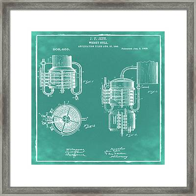 Whiskey Still 1906 In Green Framed Print by Bill Cannon