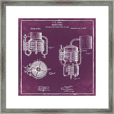 Whiskey Still 1906 In Red Framed Print by Bill Cannon