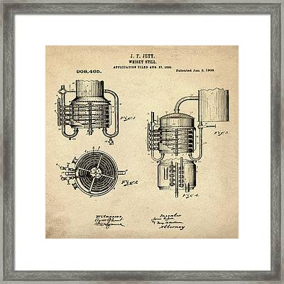 Whiskey Still 1906 In Sepia Framed Print by Bill Cannon