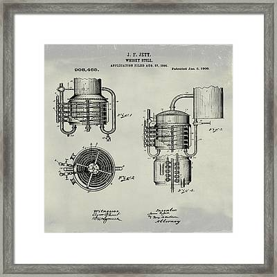Whiskey Still 1906 In Weathered Framed Print by Bill Cannon