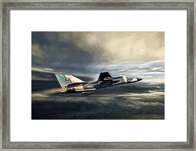Whispering Death F-111 Framed Print by Peter Chilelli