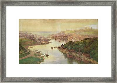 Whitby From Larpool Framed Print by John Sowden