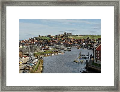 Whitby Marina And The River Esk Framed Print by Rod Johnson