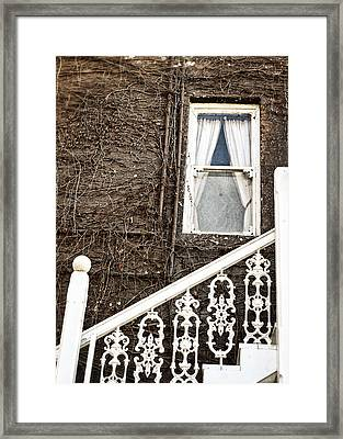 White Brown And The Union Hotel Framed Print by Caitlyn  Grasso