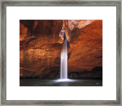 White Canyons Framed Print by Leland D Howard