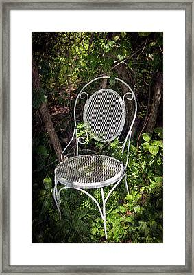 White Chair Framed Print by Brian Wallace