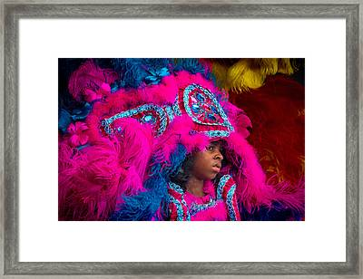 White Cloud Hunters Mardi Gras Indians 2 Framed Print by Terry Finegan