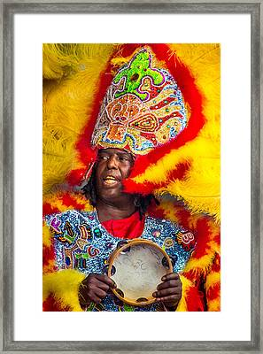 White Cloud Hunters Mardi Gras Indians 3 Framed Print by Terry Finegan