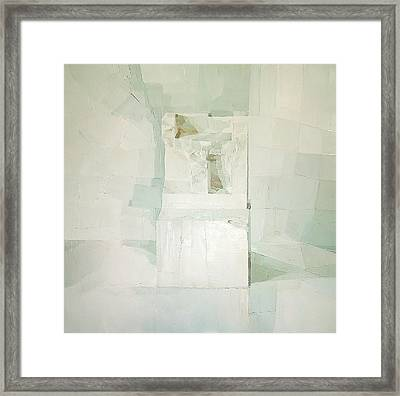 White Framed Print by Daniel Cacouault