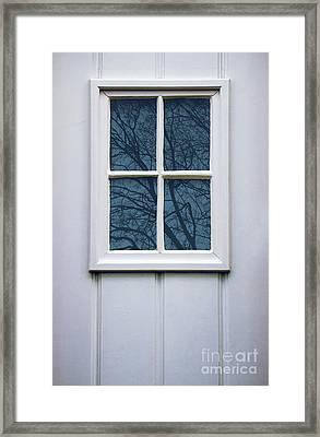 White Door Detail Framed Print by Carlos Caetano