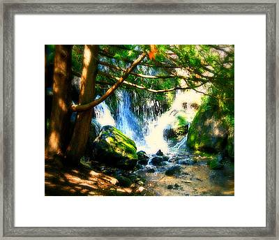 White Falls Framed Print by Perry Webster