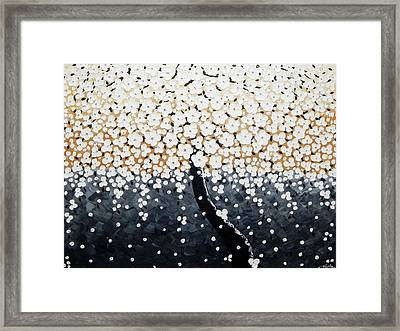 White Flowers Framed Print by Ilonka Walter