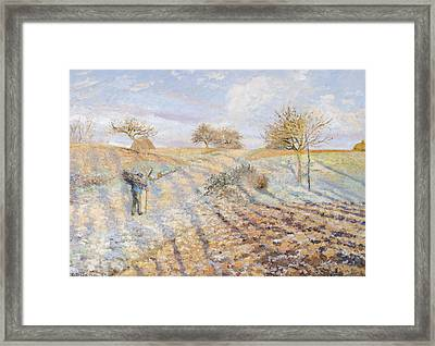 White Frost Framed Print by Camille Pissarro