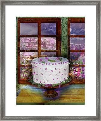 White Frosted Cake Framed Print by Mary Ogle and Miki Klocke