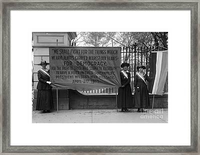 White House: Suffragettes Framed Print by Granger