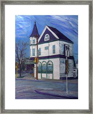 White House Tavern Framed Print by Anita Burgermeister