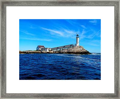 White Island Lighthouse Framed Print by Bob Foudriat