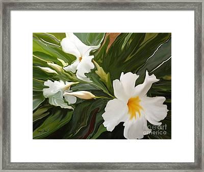White Jasmine Framed Print by Corey Ford