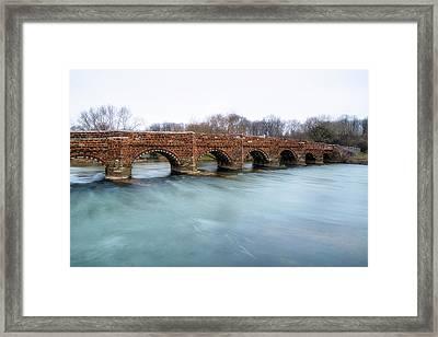 White Mill Bridge - England Framed Print by Joana Kruse