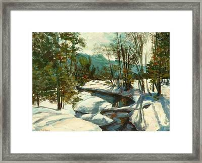 White Mountain Winter Creek Framed Print by Claire Gagnon
