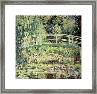 White Nenuphars Framed Print by Claude Monet