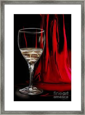 White On Red Framed Print by Danuta Bennett