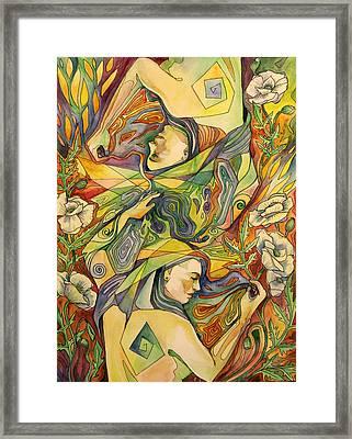 White Poppies Framed Print by Varya Vinogradova