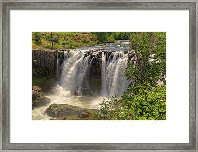 White River Falls Framed Print by Connie Cooper-Edwards