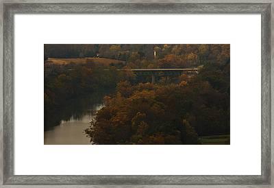 White River Foliage Framed Print by Jonas Wingfield