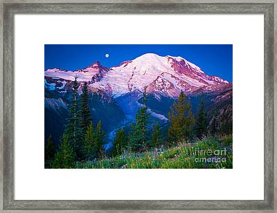 White River Predawn Framed Print by Inge Johnsson