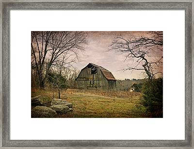 White River Trace Barn 1 Framed Print by Marty Koch