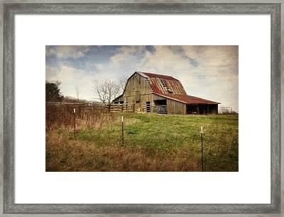 White River Trace Barn 2 Framed Print by Marty Koch
