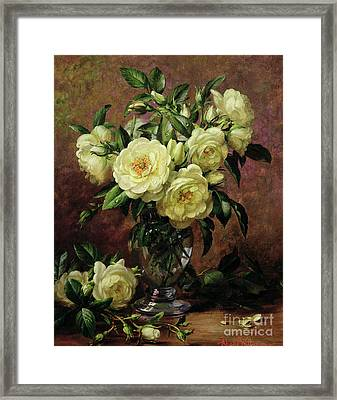 White Roses - A Gift From The Heart Framed Print by Albert Williams