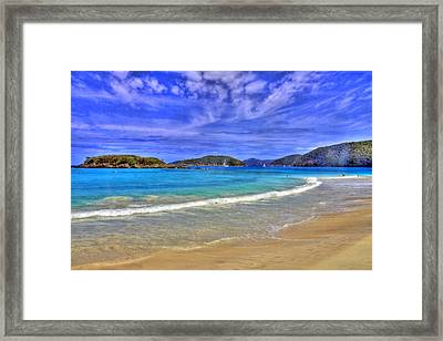 White Sands Beach Framed Print by Scott Mahon