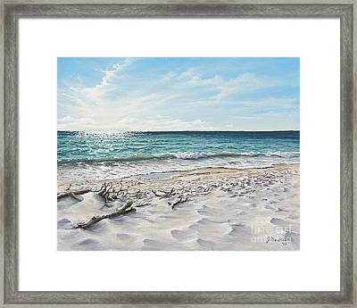 White Sands Of Tiger Tail Framed Print by Joe Mandrick